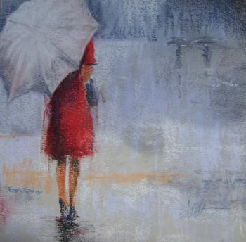 femme au parapluie 5 artsite peintre fr d ric fouilloux atelier du boulev 39 art vesoul haute saone. Black Bedroom Furniture Sets. Home Design Ideas