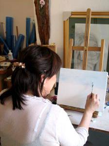 Cours de peinture à l'atelier du Boulev'Art à Vesoul