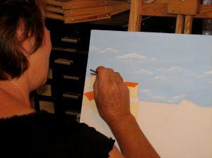 Technique enseignée : Aquarelle, peinture à l'huile,dessin crayon ,pastel, Modelage à partir d'agile.